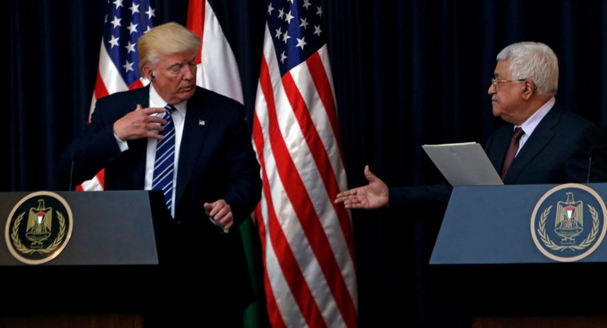 Donald trump and Abbas