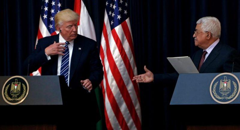 Donald trump and Abbas